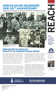 An image of the cover of Reach Magazine, Spring 2014 Issue