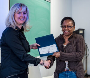 Toronto East General Hospital Presenter Receiving Certificate