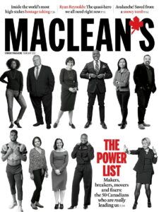 Front page of Maclean's magazine
