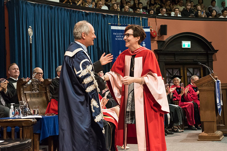 Cindy Blackstock receiving an honorary degree from U of T