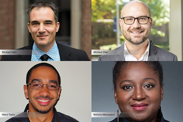 profile photos of Michael Saini, Micheal Shier, Harry Taylor and Notisha Massaquoi